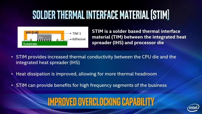 Intel verlötet den Heatspreader statt Wärmeleitpaste zu verwenden. (Bild: Intel)