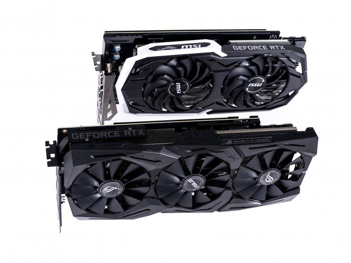 Geforce RTX 2070 von Asus und MSI (Bild: Martin Wolf/Golem.de)