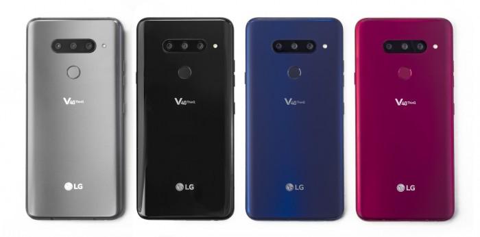 Das neue V40 Thinq von LG kommt mit einer Dreifachkamera auf der Rückseite. (Bild: LG)