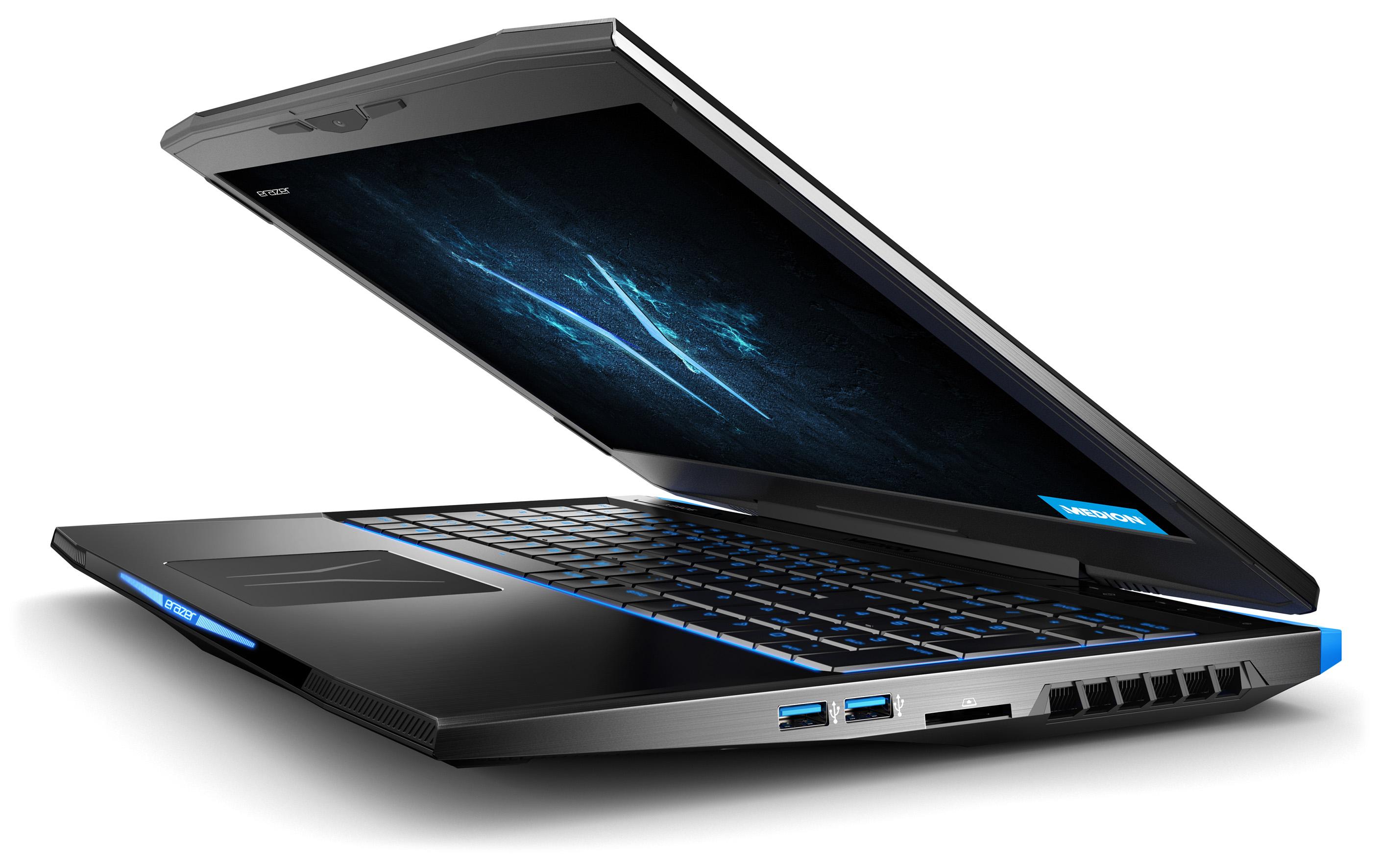 Erazer X6805: Aldi-Gaming-Laptop von Medion kommt mit 32 GByte RAM - Medion Erazer X6805 (Bild: Medion)