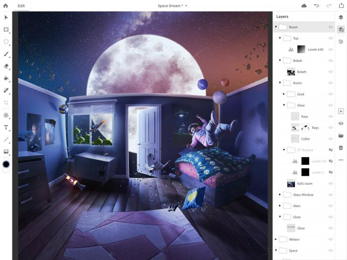 Photoshop auf dem iPad (Bild: Adobe)