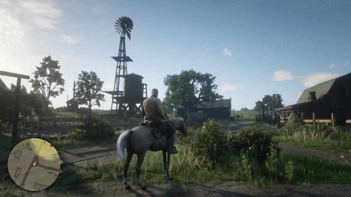 Vor dem Überfall auf eine Farm kundschaften wir das Gelände aus. (Bild: Rockstar Games/Screenshot: Golem.de)