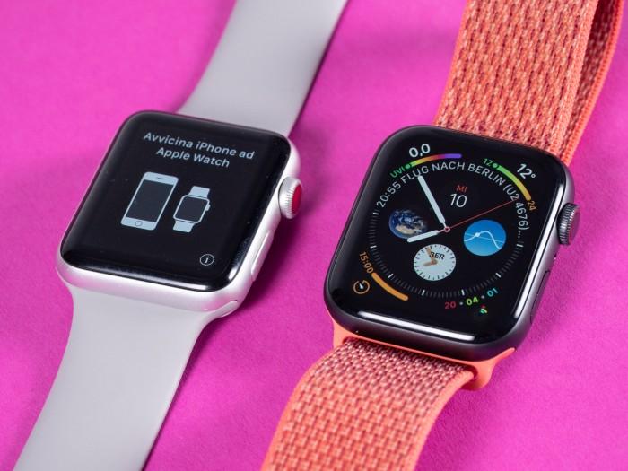 Der Bildschirm der Apple Watch 4 zeigt mehr Informationen als beim Vorgänger. (Bild: Martin Wolf/Golem.de)