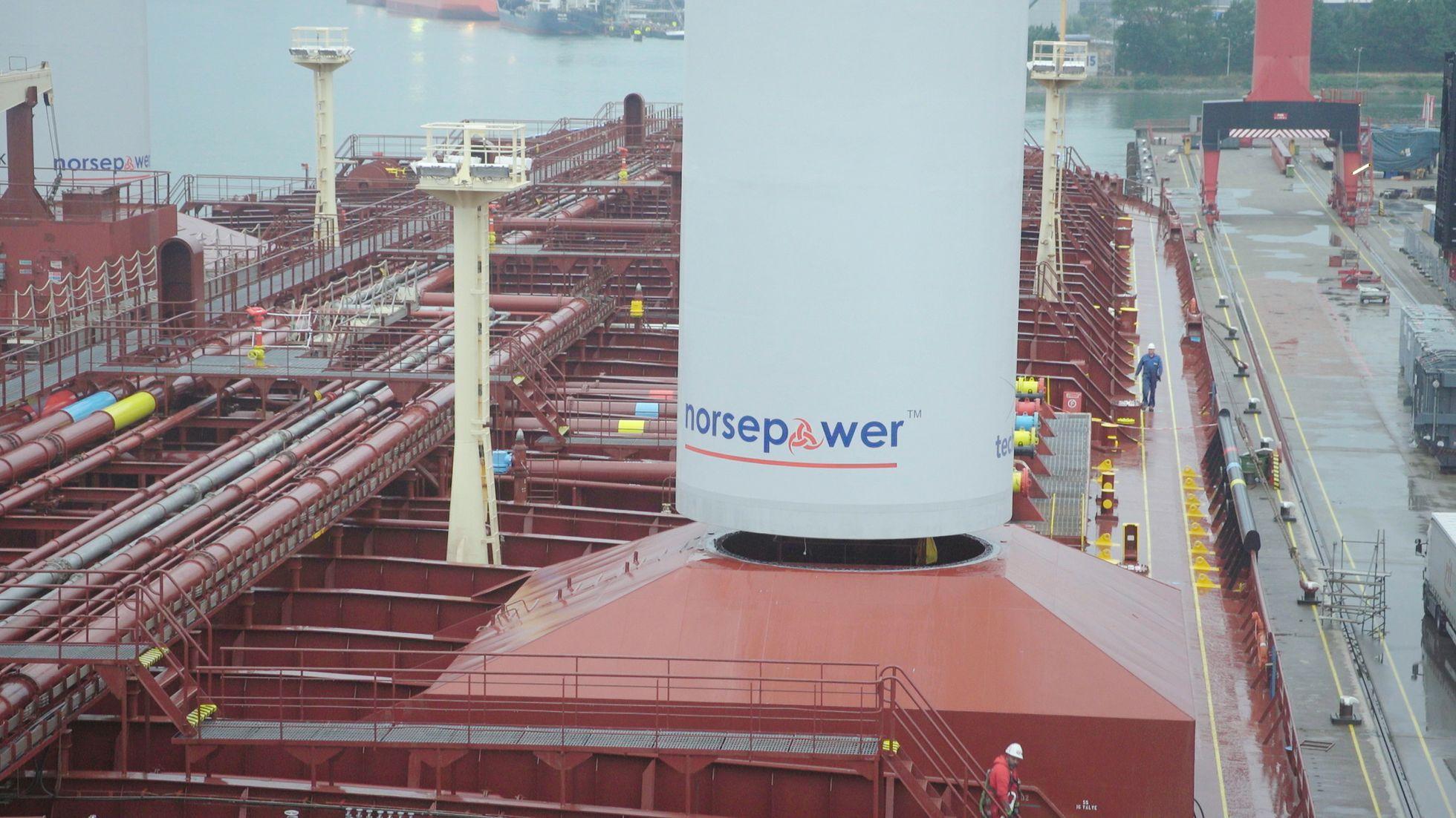 Norsepower: Stahlsegel helfen der Umwelt und sparen Treibstoff -