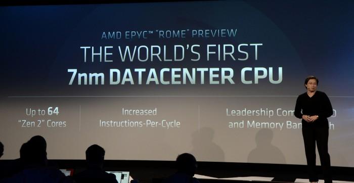 AMD kündigt die erste 7-nm-CPU mit x86-Kernen an. (Foto: Nico Ernst)