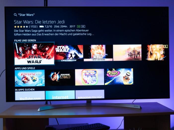 In den Suchergebnissen ist nicht zu erkennen, welche Inhalte im Prime-Abo enthalten oder bei Netflix verfügbar sind. (Bild: Martin Wolf/Golem.de)