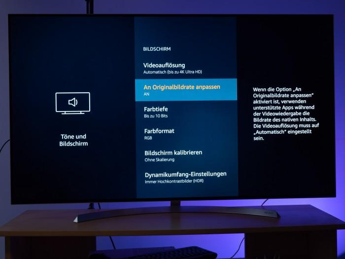 Der Fire TV Stick 4K bietet viele Einstellungen für die Wiedergabe. (Bild: Martin Wolf/Golem.de)