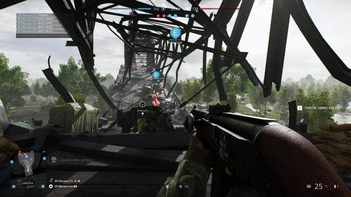 Die Brücke ist schon zerstört - und Schauplatz von einer der spannendsten Maps. (Bild: EA/Screenshot: Golem.de)