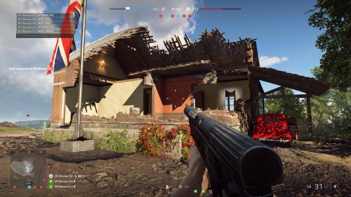 Gebäude lassen sich nach und nach zerstören. (Bild: EA/Screenshot: Golem.de)