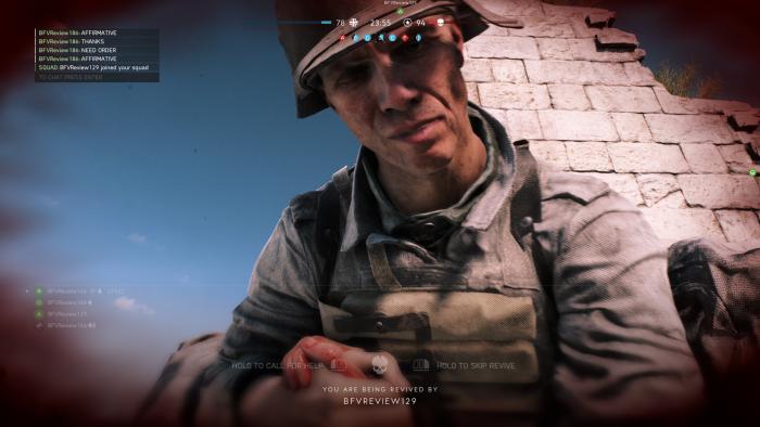 Nach unserem Ableben heilt uns ein Kamerad. (Bild: EA/Screenshot: Golem.de)