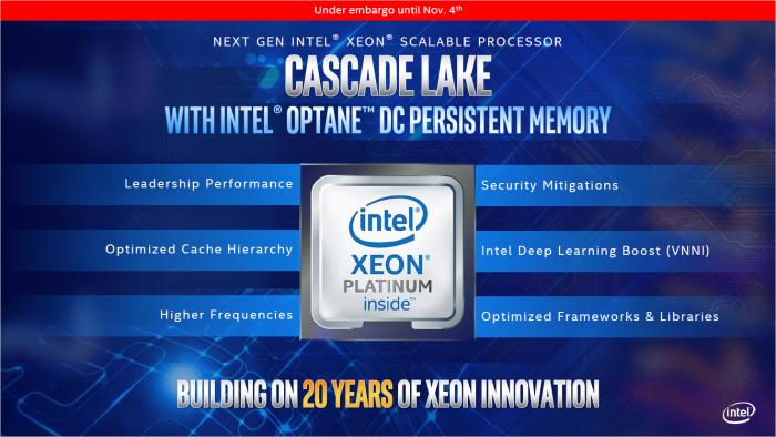 Präsentation zu CLX-AP (Bild: Intel)