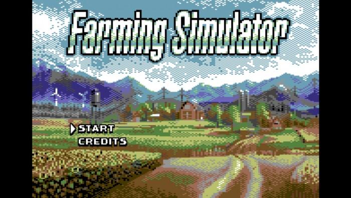 Der Farming Simulator ist ein eigenständiges Spiel für den C64, das mit dem neuen Landwirtschafts-Simulator mitgeliefert wird. (Screenshot: Golem.de)