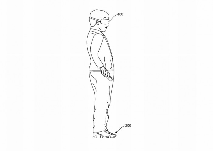Google hat die Idee eines motorisierten Schuhs, der VR-Nutzer automatisch innerhalb eines festgelegten Bewegungsbereichs halten soll. (Bild: Google/Screenshot: Golem.de)
