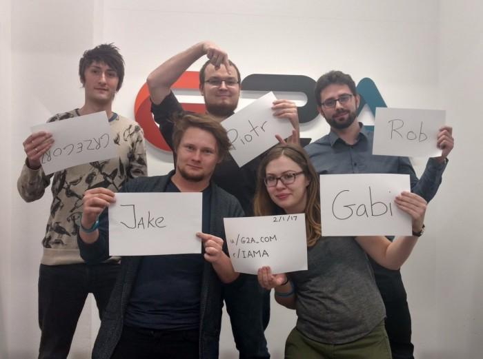 Diese fünf G2A-Mitarbeiter stellten sich am 1. Februar 2017 in einer Reddit-Fragerunde den kritischen Nutzern - und blamierten sich gewaltig. (Quelle: Twitter)