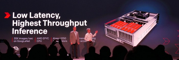 Xilinx und AMD zeigen Rekordsystem. (Bild: Marc Sauter/Golem.de)