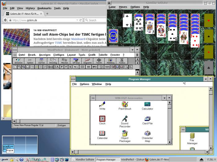 Die Benutzeroberfläche von Arca OS (Bild: Arca OS/Screenshot: Jörg Thoma)