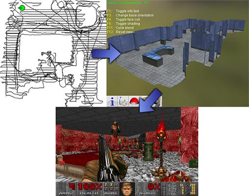 Doomba erstellt aus Staubsauger-Daten Doom-Level (Bild: Rich Whitehouse)