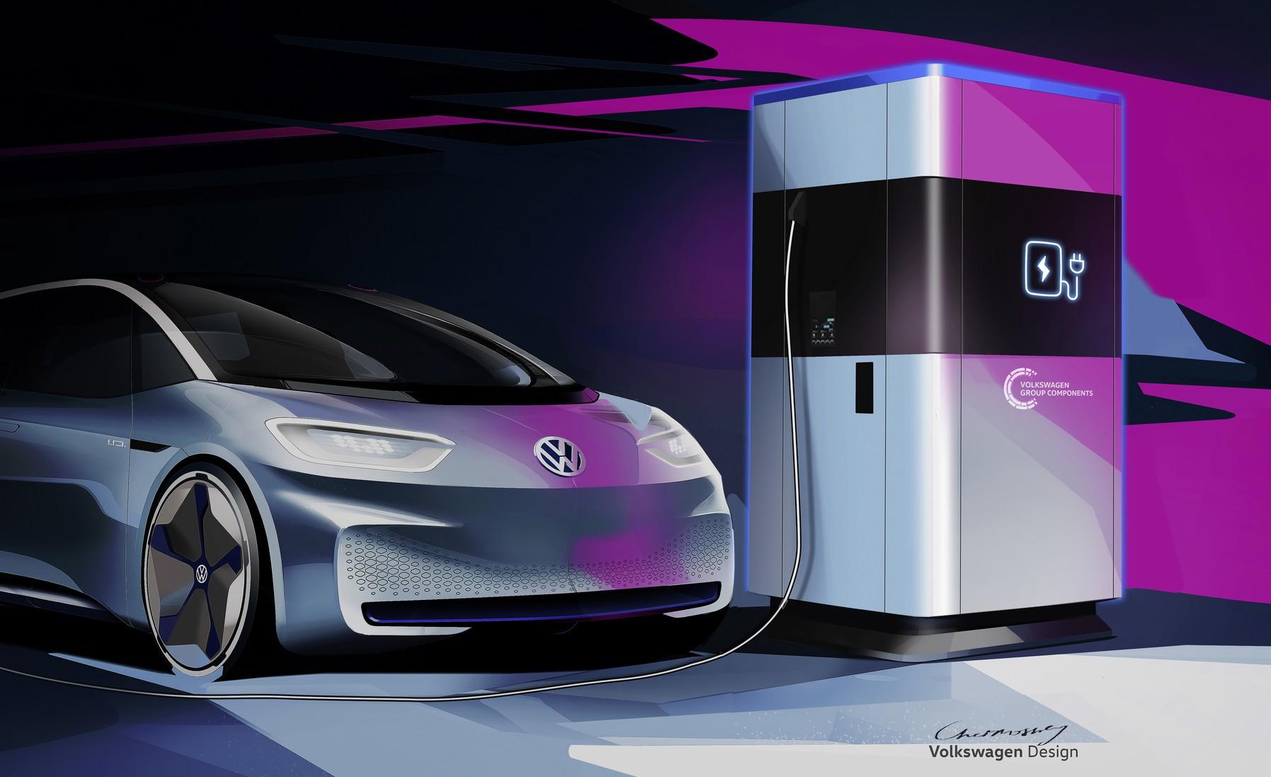 Volkswagen: Riesige Powerbank lädt Elektroautos -
