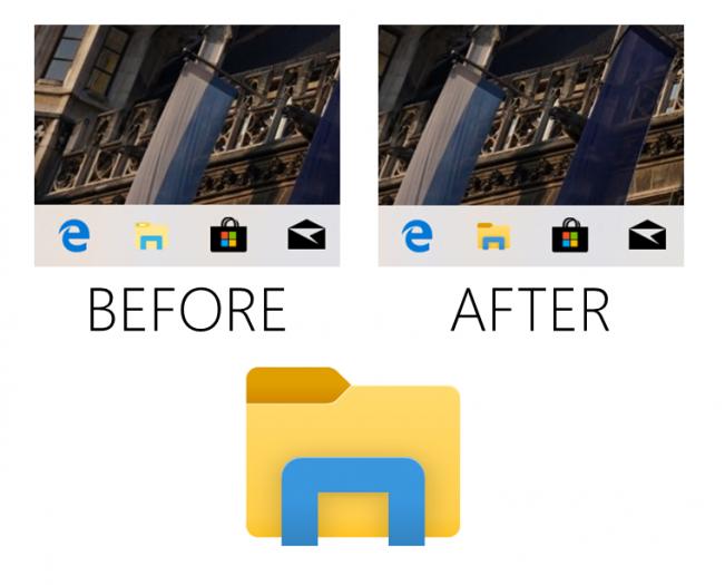 Das neue Explorer-Logo (Bild: Microsoft)