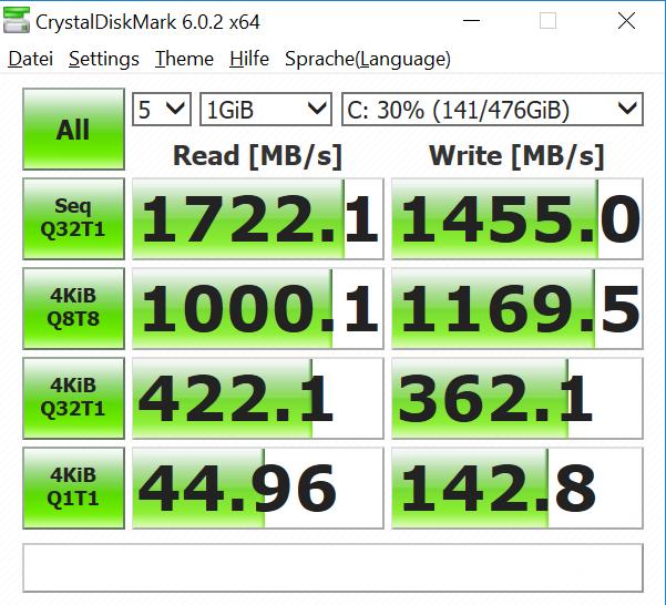 Asus Zenbook Pro 14 im Test: Das Display im Touchpad macht den Unterschied - Die SSD ist schnell genug. (Bild: Oliver Nickel/Golem.de)