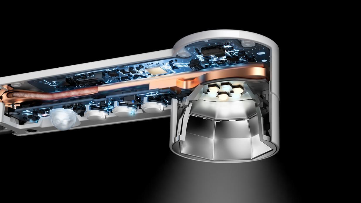 Dyson: Gekühlte LED-Schreibtischlampe soll 60 Jahre leuchten - Lightcycle (Bild: Dyson)