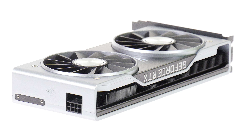 Geforce RTX 2060 im Test: Gute Karte zum gutem Preis mit Speicher-Aber - Nvidia verbaut einen 8-Pol-Stromanschluss. (Bild: Marc Sauter/Golem.de)