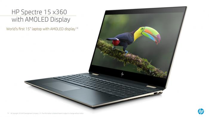 Spectre x360 mit OLED-Panel (Bild: HP)