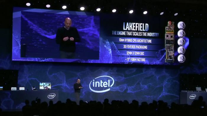 Intel zeigt Lakefield. (Bild: Intel)