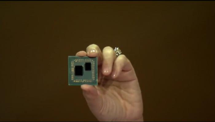 Das Package trägt zwei Chips, es scheint noch Platz für weitere acht Kerne zu sein. (Bild: AMD)