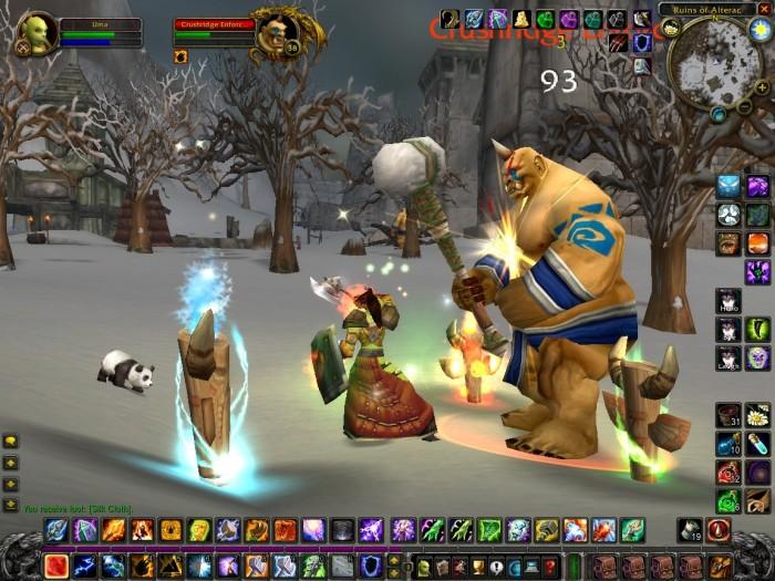 In der Urversion von World of Warcraft trafen Spieler an jeder Ecke auf brandgefährliche Feinde - wie diesen Elite-Gegner in den Ruinen von Alterac. (Bild: Blizzard/Screenshot: Nobbie)