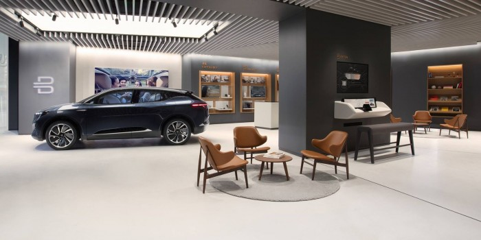 Edel: Bytons Showroom in Schanghai (Bild: Byton)