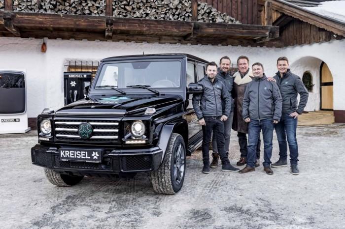 Das österreichische Unternehmen Kreisel hat einen Mercedes G umgebaut ... (Bild: Martin Proell)