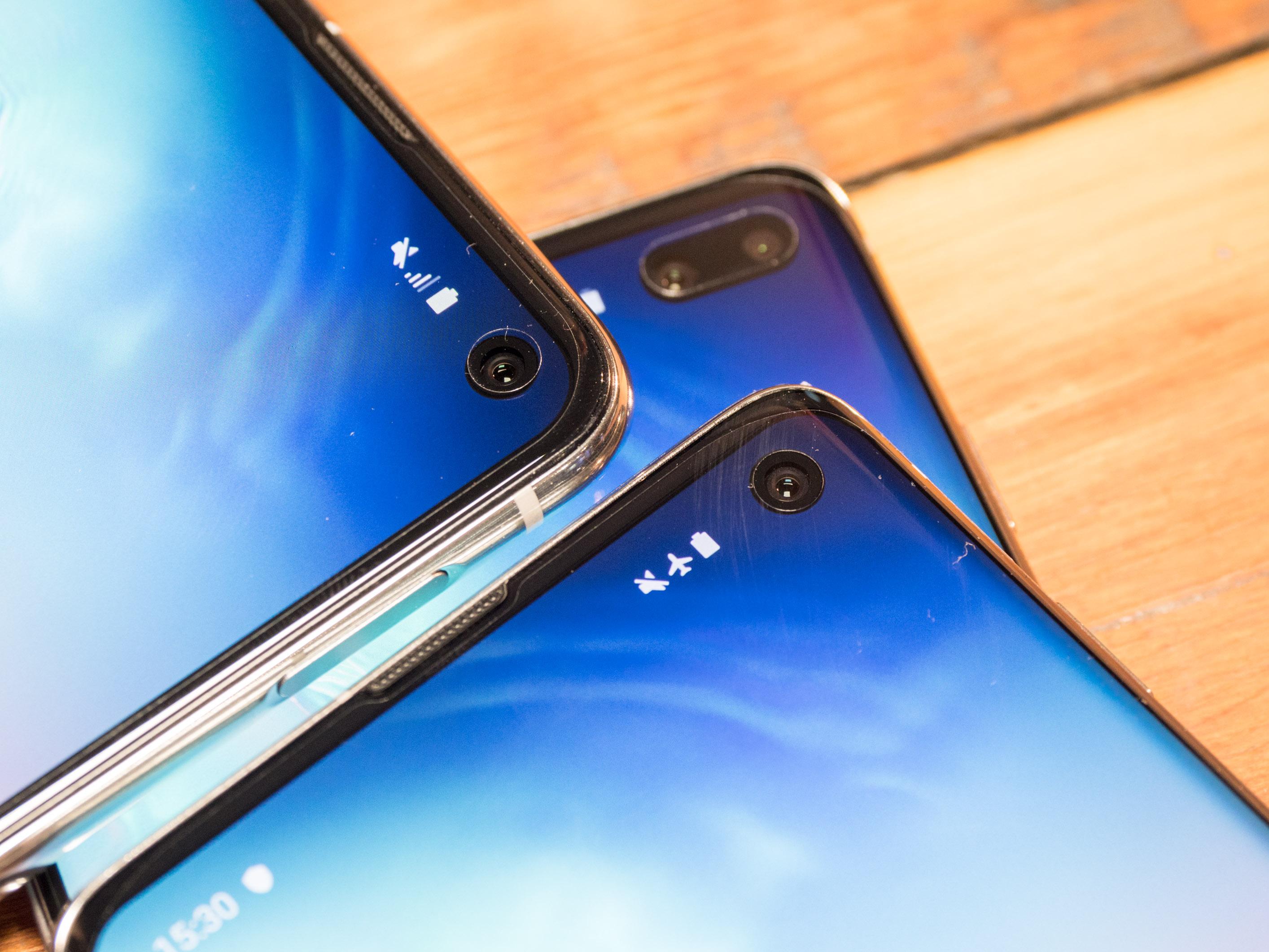 Galaxy S10 im Hands on: Samsung bringt vier neue Galaxy-S10-Modelle - Alle drei Frontkameras im Vergleich (Bild: Martin Wolf/Golem.de)