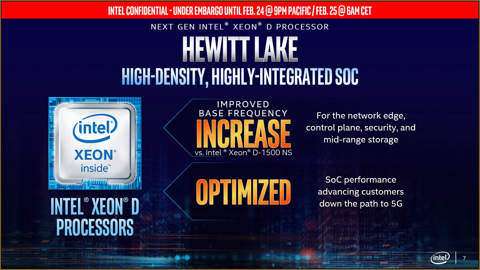 Hewitt Lake: Intel benennt kommende Generation der Xeon D -