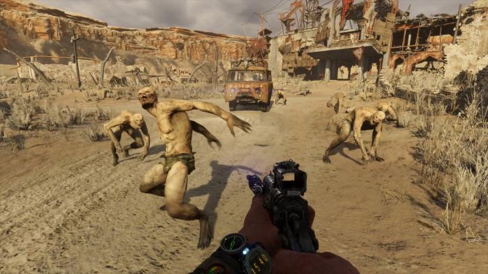 In der Kaspischen Wüste greifen uns Mutanten an. (Bild: Deep Silver/Screenshot: Golem.de)