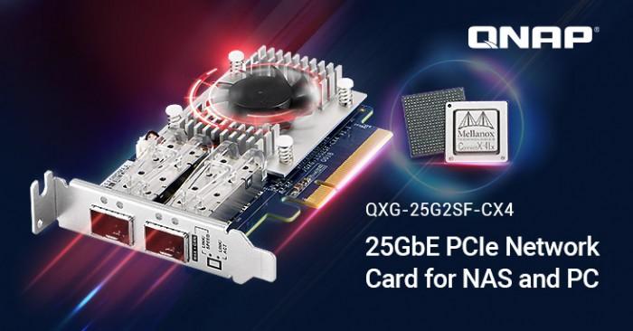Qnaps neue 25GbE-Karte (Bild: Qnap)