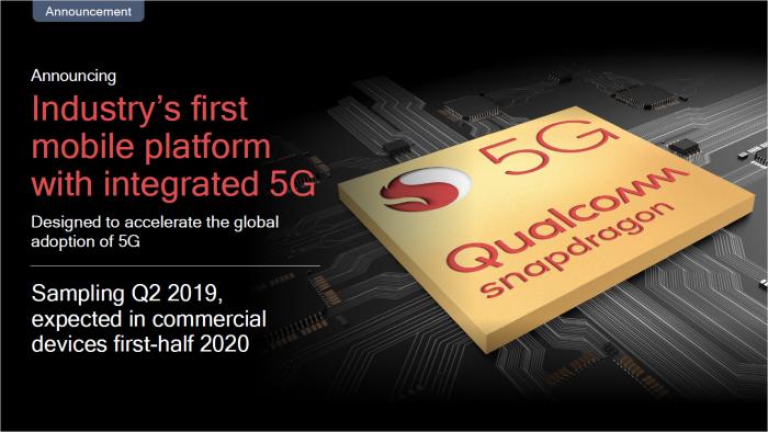 Der nächste Snapdragon wird ein X55-Modem für 5G integrieren. (Bild: Qualcomm)