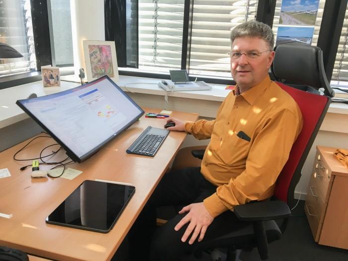 Prof. Dr. Claus Lewerentz, Leiter Praktische Informatik BTU Cottbus  (Bild: Maja Hoock)