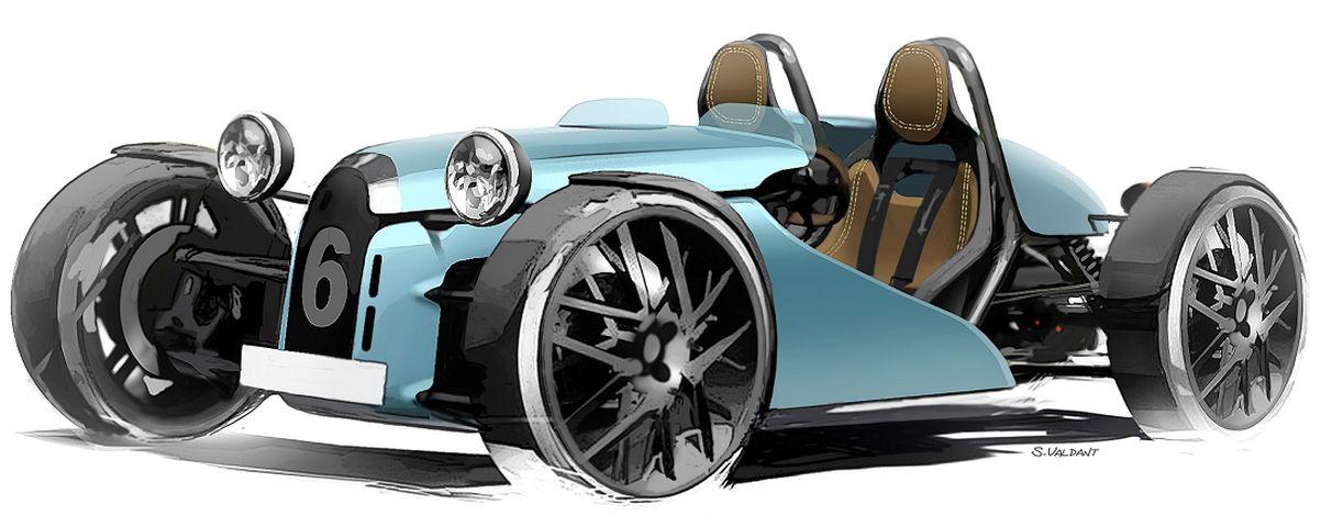 Elektroauto: Elektrischer Retro-Flitzer aus Frankreich - Elektrosportwagen Lesage Motors 01E im Retro-Stil (Bild: Lesage Motors)