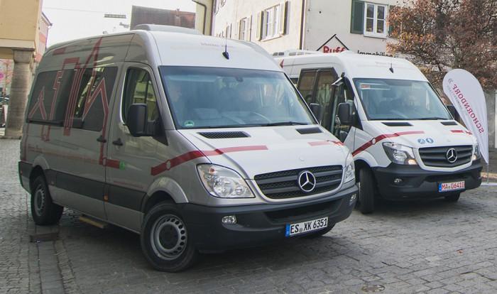 Die Busse waren kleiner als normale Linienbusse - und sie fuhren nie leer.  (Bild: DLR)