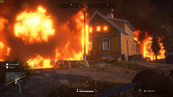 Der Ring aus Feuer arbeitet sich alle paar Minuten weiter vor. (Bild: EA/Screenshot: Golem.de)