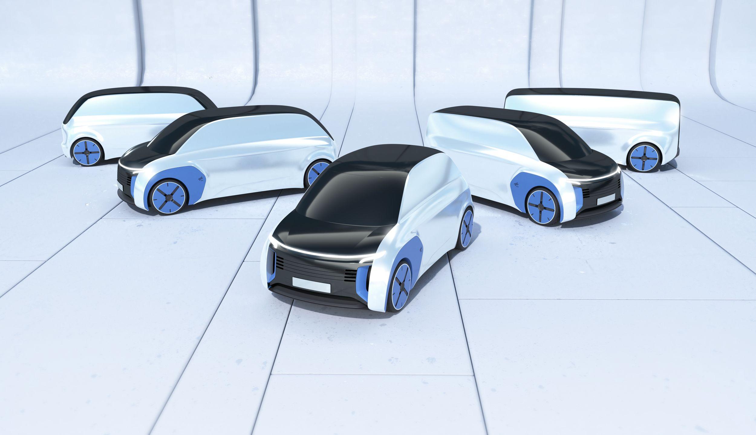 Next Generation Car: Das Fahrzeug der Zukunft ist modular - Die Idee ist, mehrere Fahrzeuge vom Kleinwagen bis hin zum Peoplemover zu entwickeln, ... (Bild: DLR)