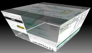 Abbildung 1: Mit Compiz gerät das Umschalten zwischen den virtuellen Desktops zum 3-D-Ereignis. (Bild: Klaus Knopper)