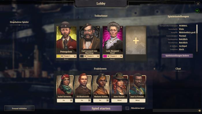 In der Lobby erstellen wir Multiplayerpartien. (Bild: Ubisoft/Screenshot: Golem.de)