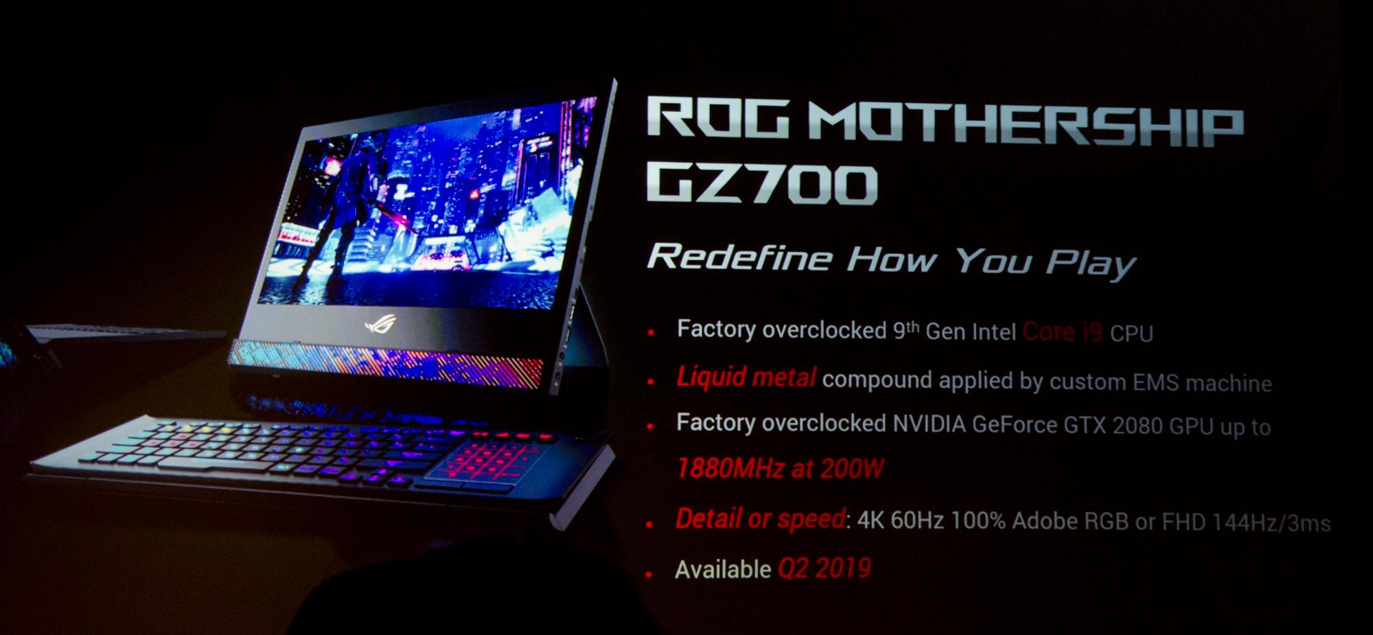 Gaming-Notebooks: Asus ROG mit Core i9 und fixen oder farbstarken Displays - GPU mit 1,9 GHz im Mobilrechner. (Foto: Nico Ernst)