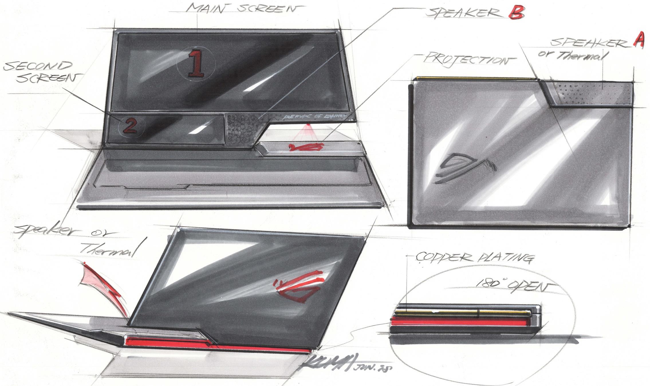 """Gaming-Notebooks: Asus ROG mit Core i9 und fixen oder farbstarken Displays - Designstudie """"Face Off""""von Asus und BMW Designworks. (Bild: Asus)"""