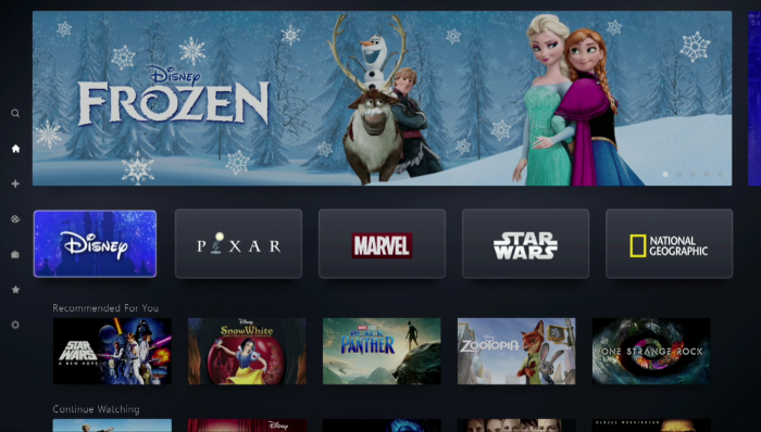 Disney+ auf dem Smart-TV (Bild: Disney/Screenshot: Golem.de)