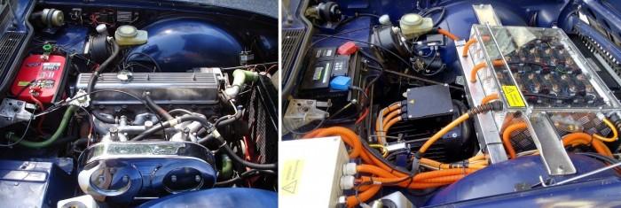 Vorher und nachher: der Motorraum... (Foto: Peter Schubert)