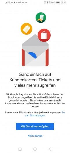 Nach der Aktivierung in den allgemeinen Einstellungen bekommen Google-Pay-Nutzer diesen Hinweis. )(Screenshot: Golem.de)
