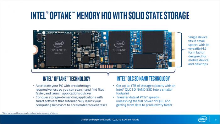 Präsentation von Optane Memory H10 (Bild: Intel)